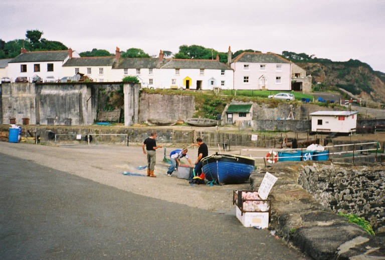 Charlestown Harbour cottages in South Cornwall
